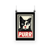 'Purr' Cat Poster (3 Sizes)-Wall Decor- Space & Shape