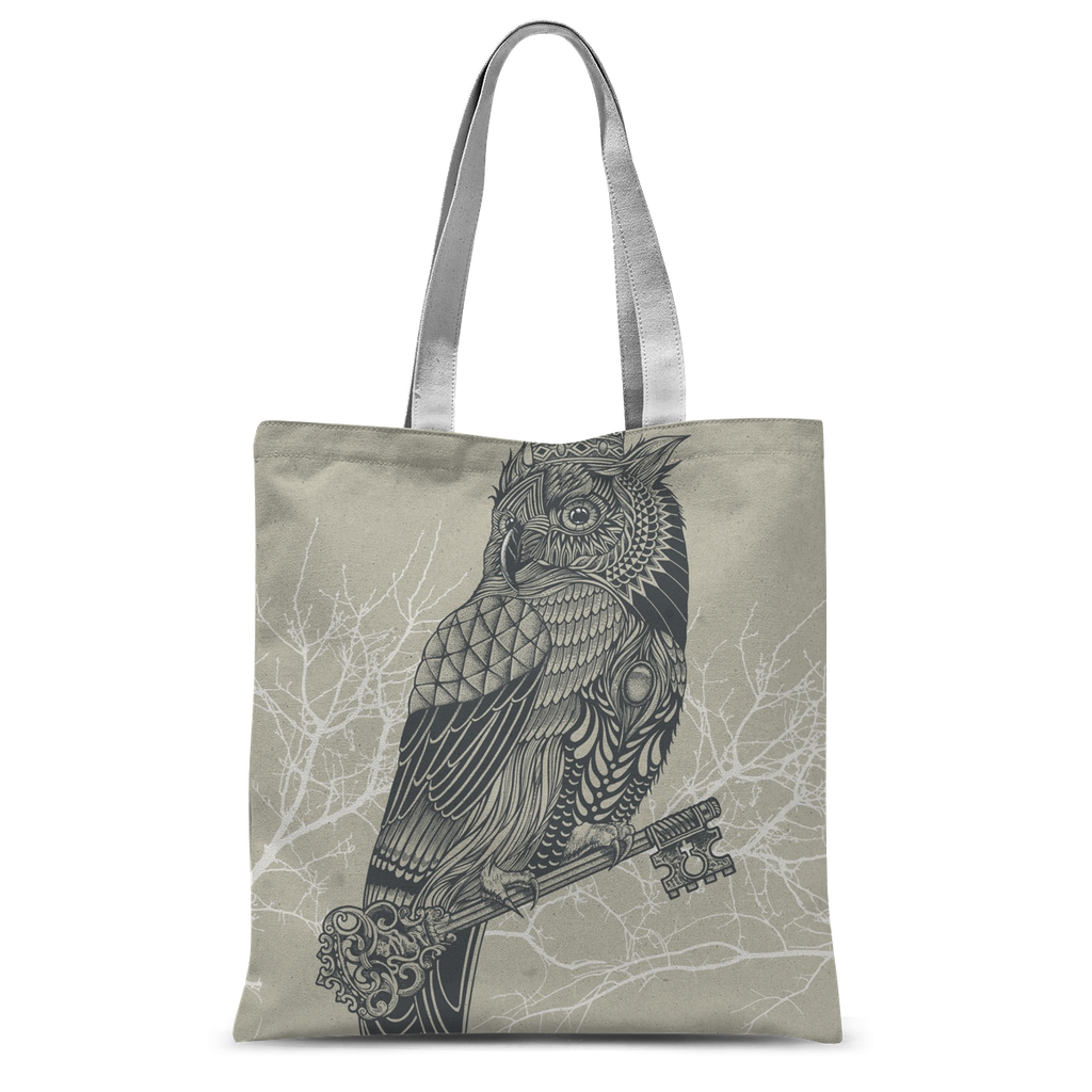 King Owl on Key Tote Bag