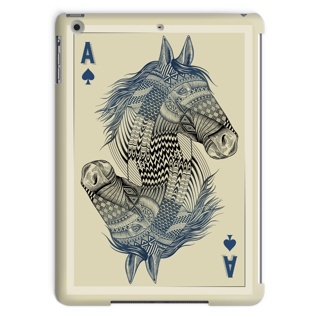 Horse Playing Card Tablet Case (iPad)-Phone & Tablet Cases- Space & Shape