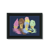 Ice Cream Framed Canvas (8 Sizes)-Wall Decor- Space & Shape