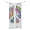 Feather & Peace Symbol Beach Towel (3 Sizes)