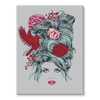 Girl with Roses Stretched Canvas (4 Sizes)