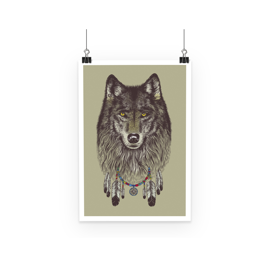 Wolf Poster (3 Sizes)