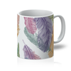 Feather & Peace Symbol Mug