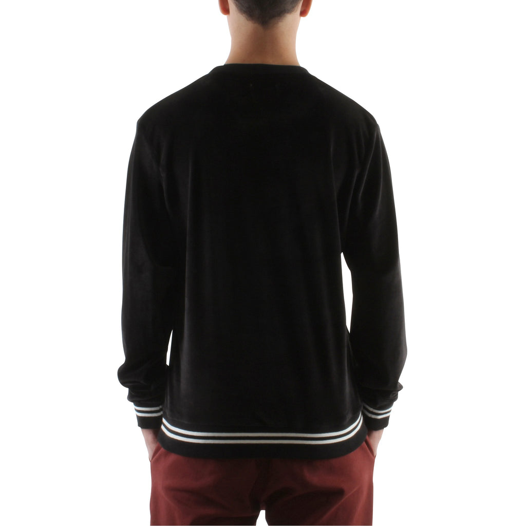 BLACK VELOUR SWEATSHIRT - Standard Issue NYC