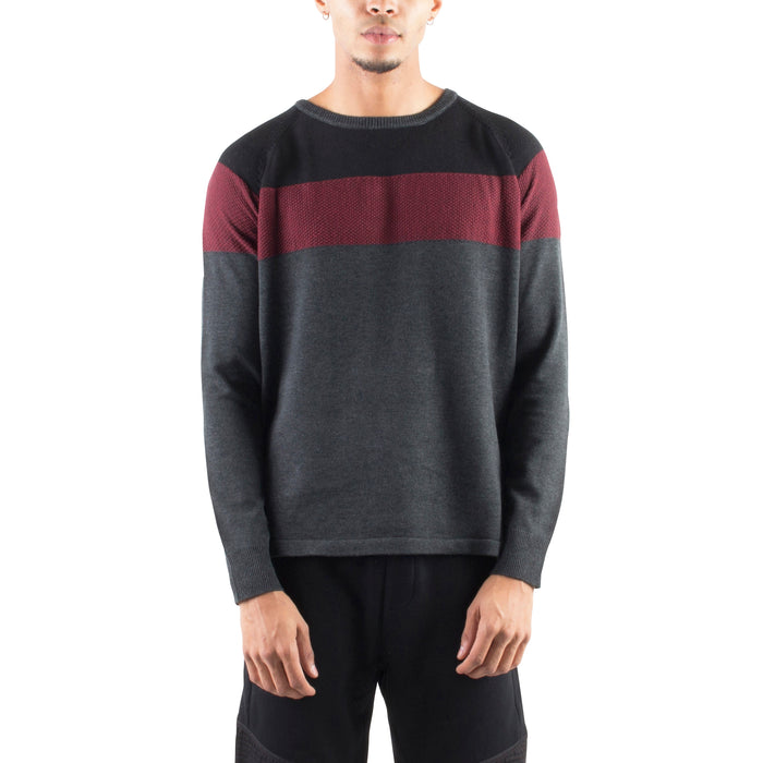 KNITTED COLOR BLOCKED SWEATER - Standard Issue NYC