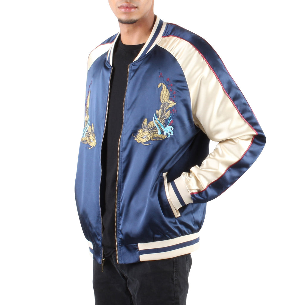 UNISEX SAMURAI SOUVENIR JACKET NAVY AND GOLD - Standard Issue NYC