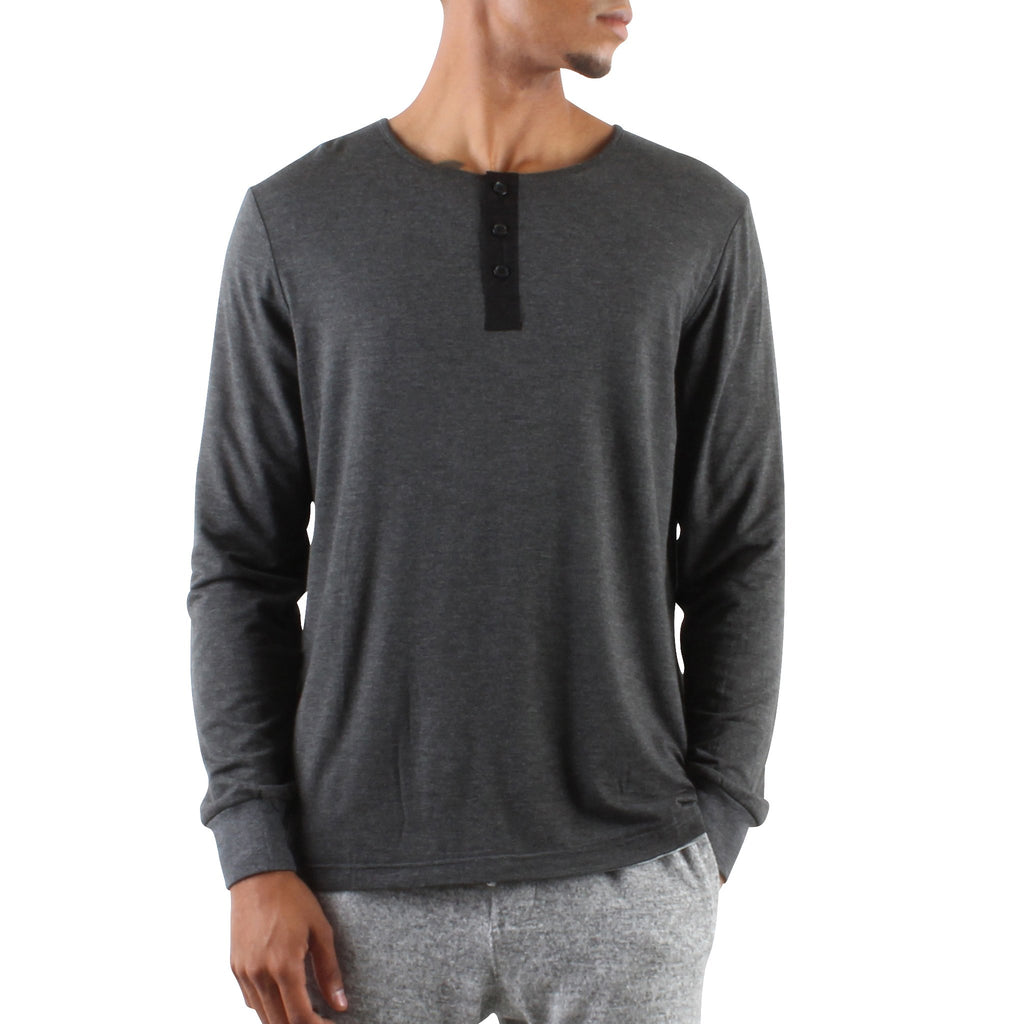 LONG SLEEVE MODAL HENLEY - Standard Issue NYC
