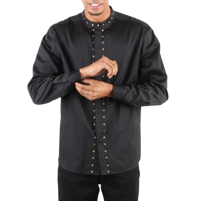 STUDDED COLLAR BUTTON UP SHIRT - Standard Issue NYC