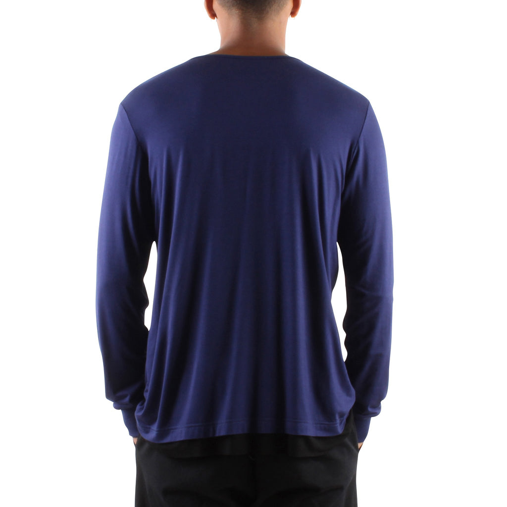 NAVY LONG SLEEVE HENLEY - Standard Issue NYC