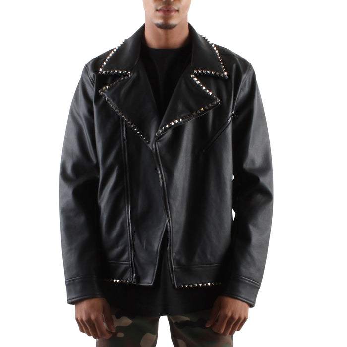 STUDDED LEATHER JACKET - Standard Issue NYC
