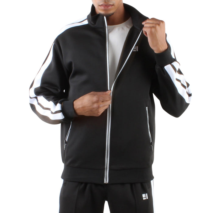 BLACK ZIP FRONT TRACK JACKET - Standard Issue NYC