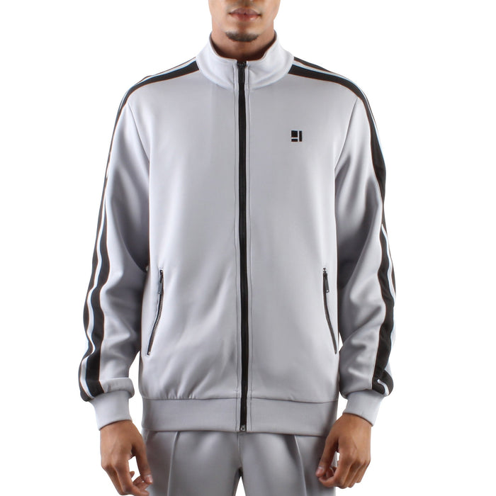 GREY ZIP FRONT TRACK JACKET - Standard Issue NYC