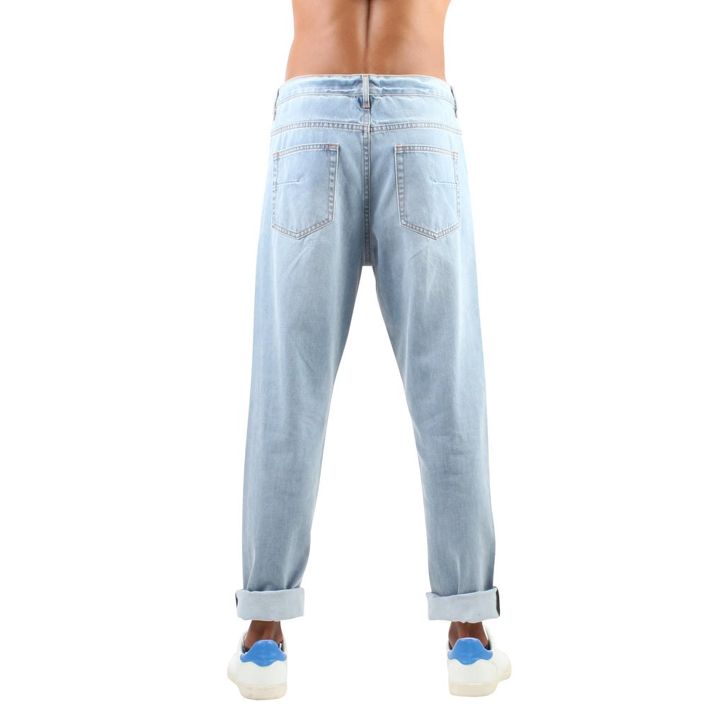 DISTRESSED LIGHT BLUE JEANS - Standard Issue NYC
