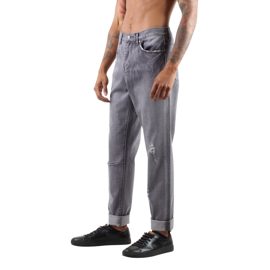 DISTRESSED GREY JEANS - Standard Issue NYC