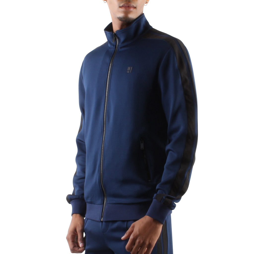 NAVY ZIP FRONT TRACK JACKET - Standard Issue NYC