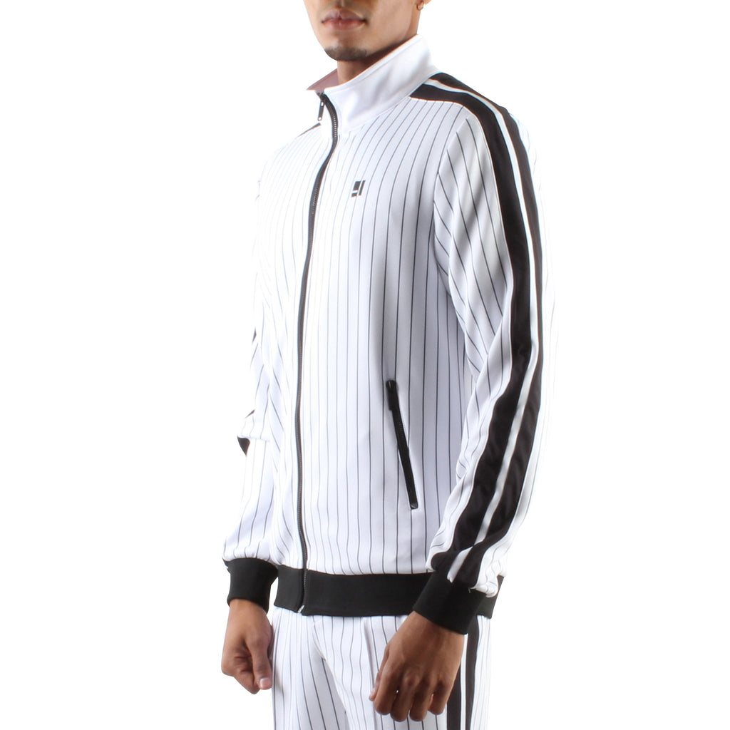 PINSTRIPE ZIP FRONT TRACK JACKET - Standard Issue NYC