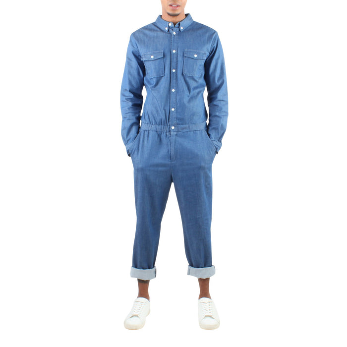 777f9d2dcfdc LONG SLEEVE DENIM JUMPER - Standard Issue NYC