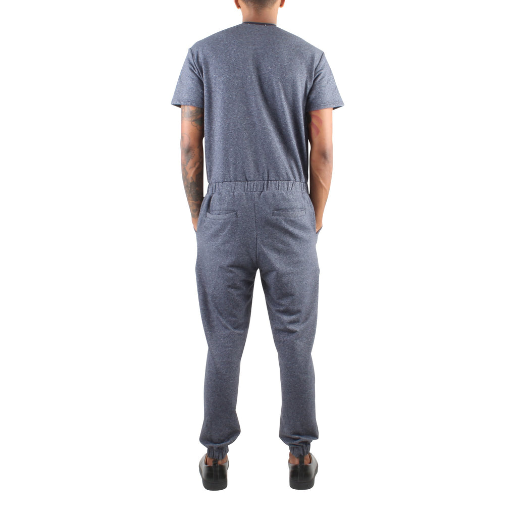 SHORT SLEEVE NAVY TERRY JUMPSUIT - Standard Issue NYC
