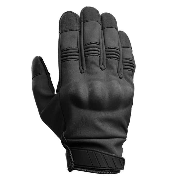 Motorcycle Gloves with Knuckle Armor - Black