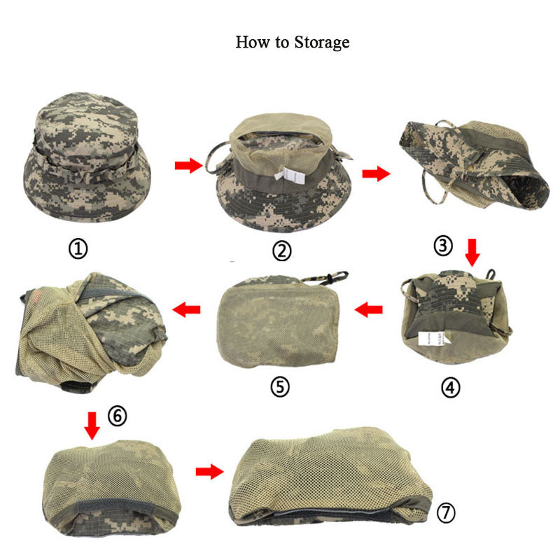 Tactical Bucket Hat - Green Camo
