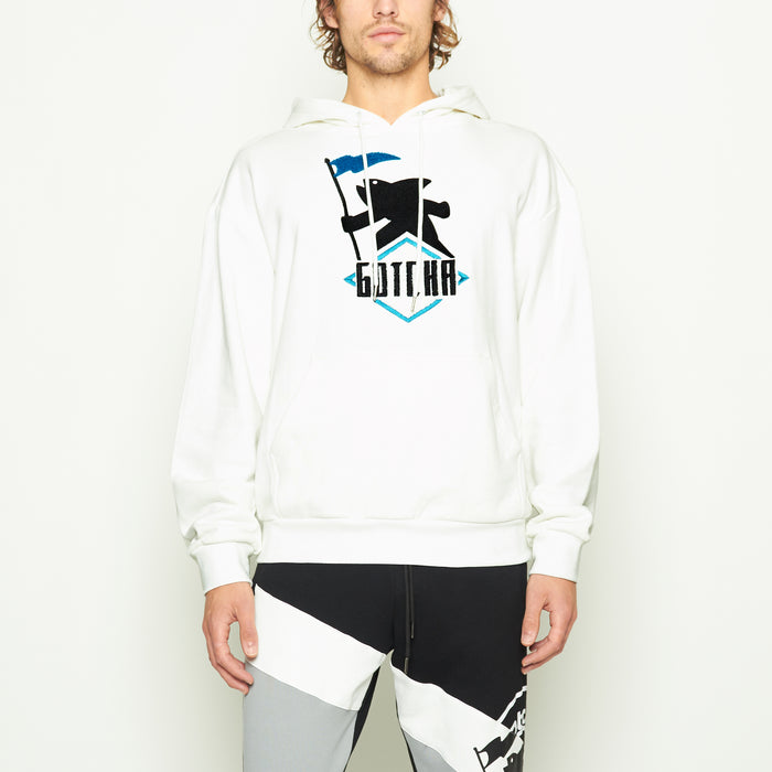 Brooks Logo Hoodie - White - Standard Issue NYC