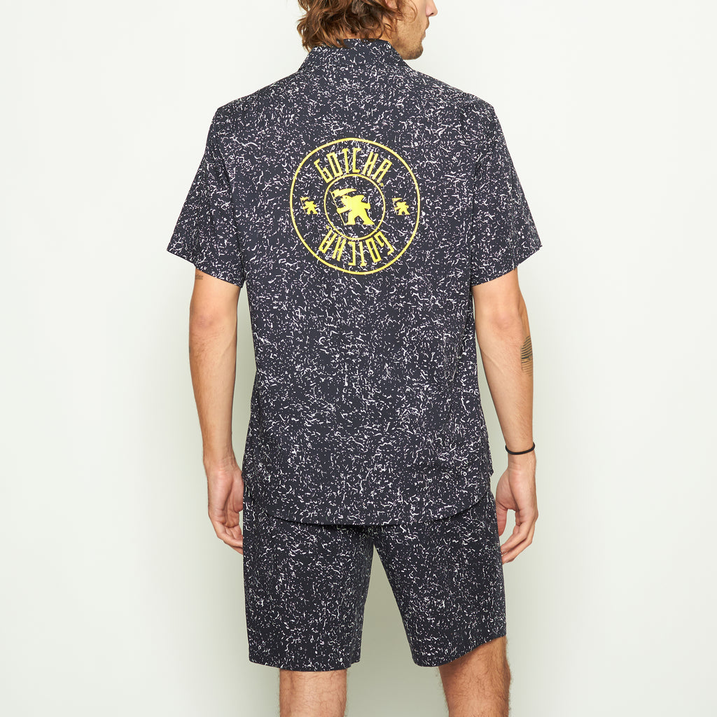 Pollock Splatter Print Woven Shirt - Standard Issue NYC