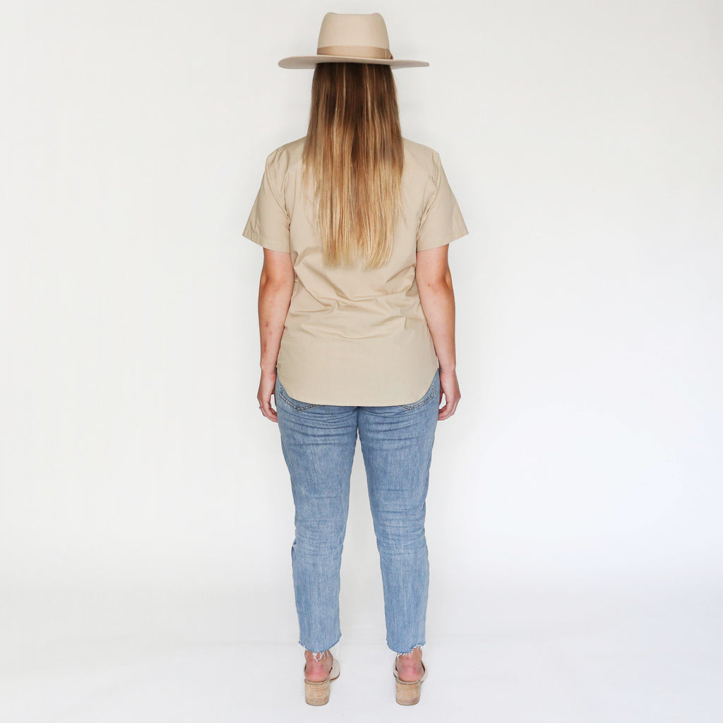 Ultimate Tan Relaxed Short Sleeve Button Up