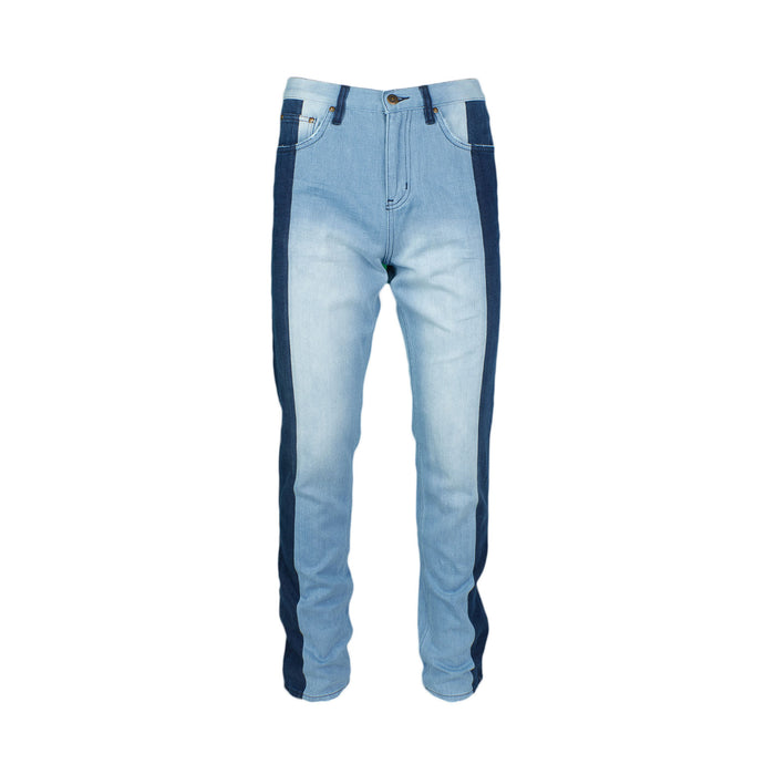 Two Tone Pieced Denim- Blue / Dark Blue - Standard Issue NYC