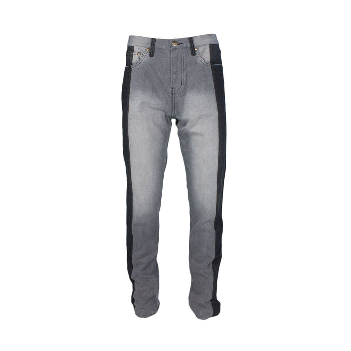 Two Tone Pieced Denim - Grey / Black - Standard Issue NYC