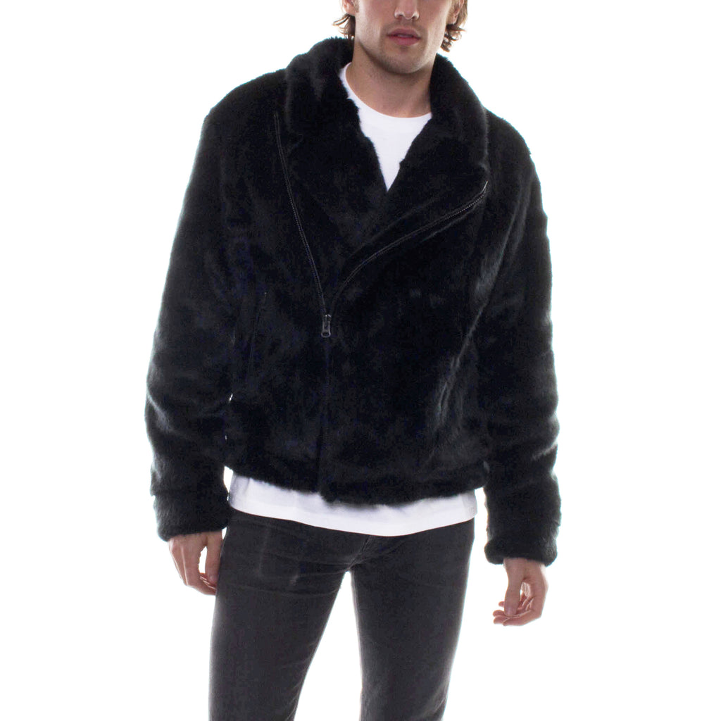 FAUX-FUR MOTO COAT - Standard Issue NYC