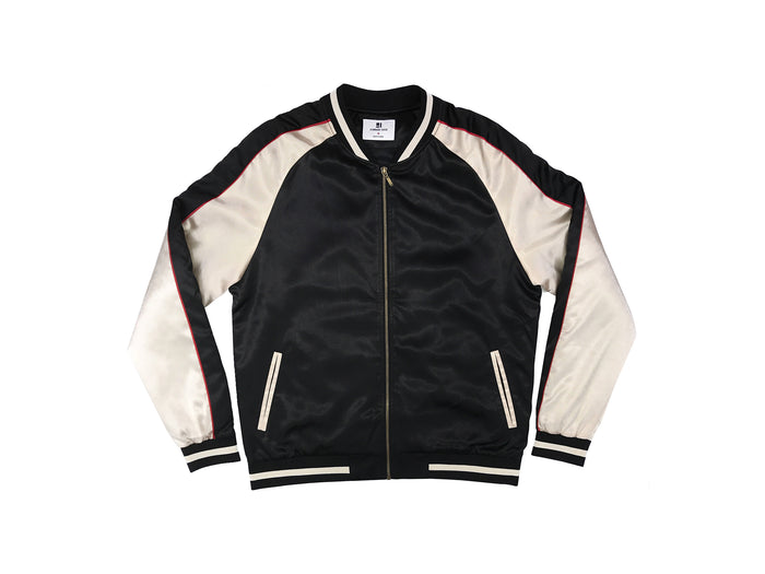 SOLID COLOR BLOCK JACKET - BLACK/GOLD - Standard Issue NYC