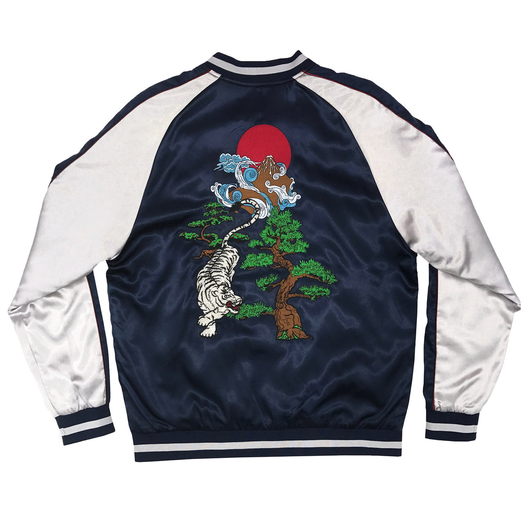 NEW TIGER JACKET - NAVY/SILVER - Standard Issue NYC