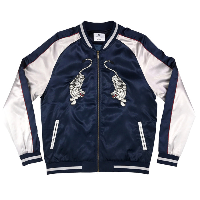 New Tiger Jacket - Navy/Silver
