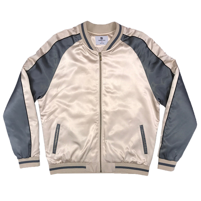 SOLID COLOR BLOCK JACKET - GOLD/GREY - Standard Issue NYC