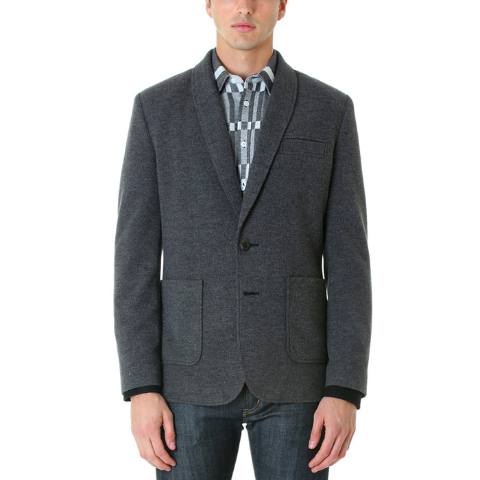 FITTED BLAZER - CHARCOAL