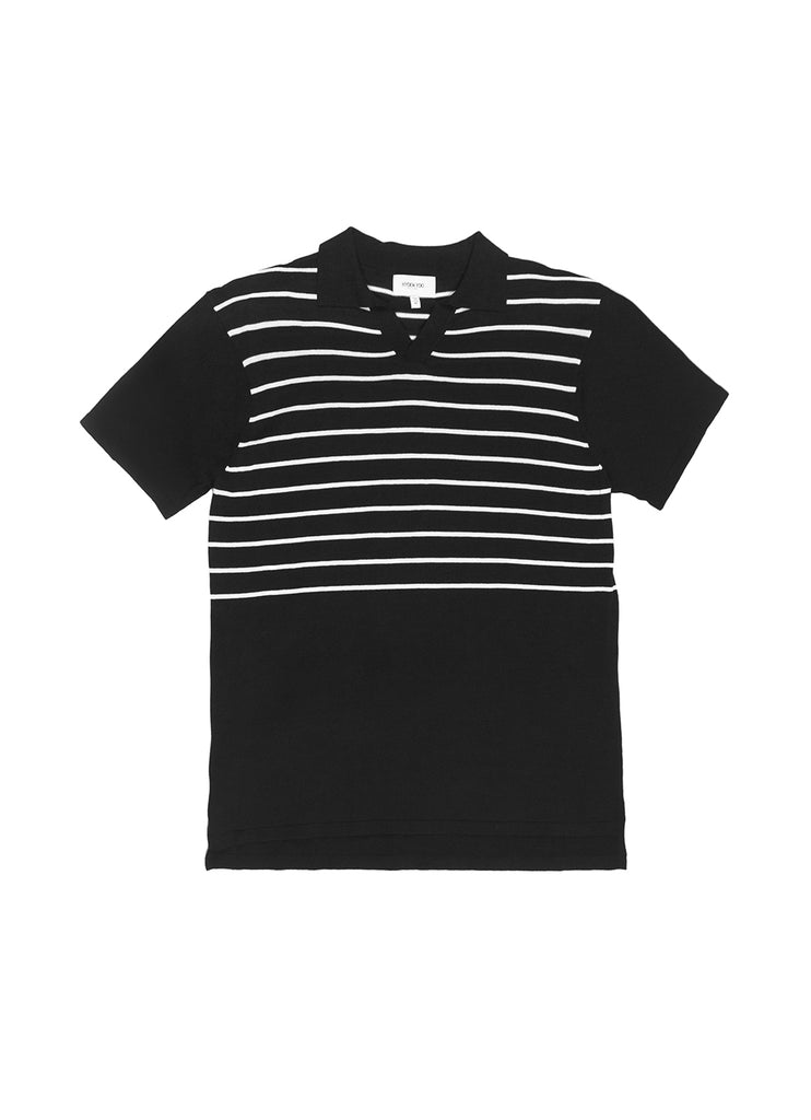 KYRIE KNIT POLO BLACK
