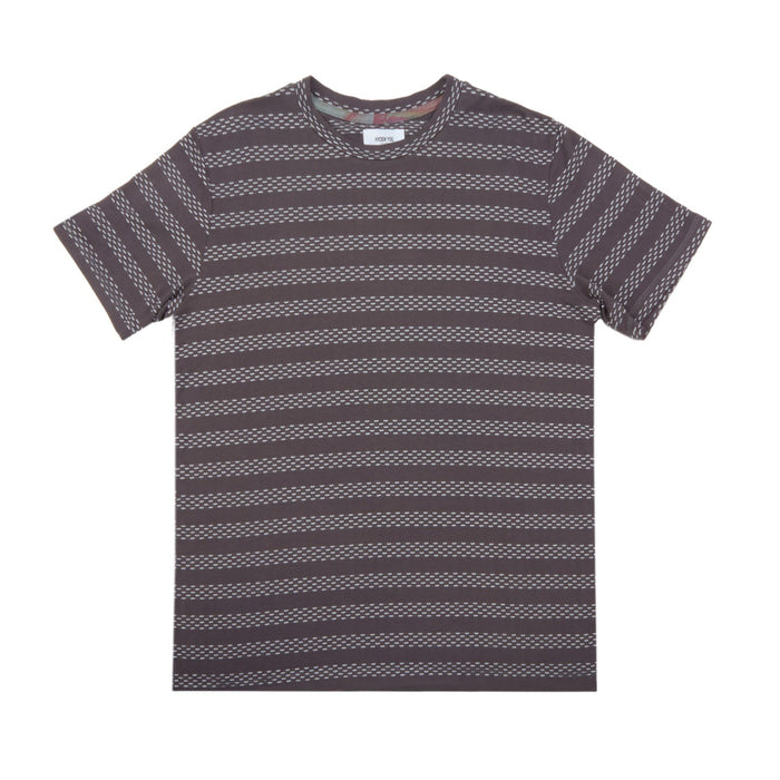 PREMIUM BASIC TEE - CHARCOAL GEO STRIPES - Standard Issue NYC