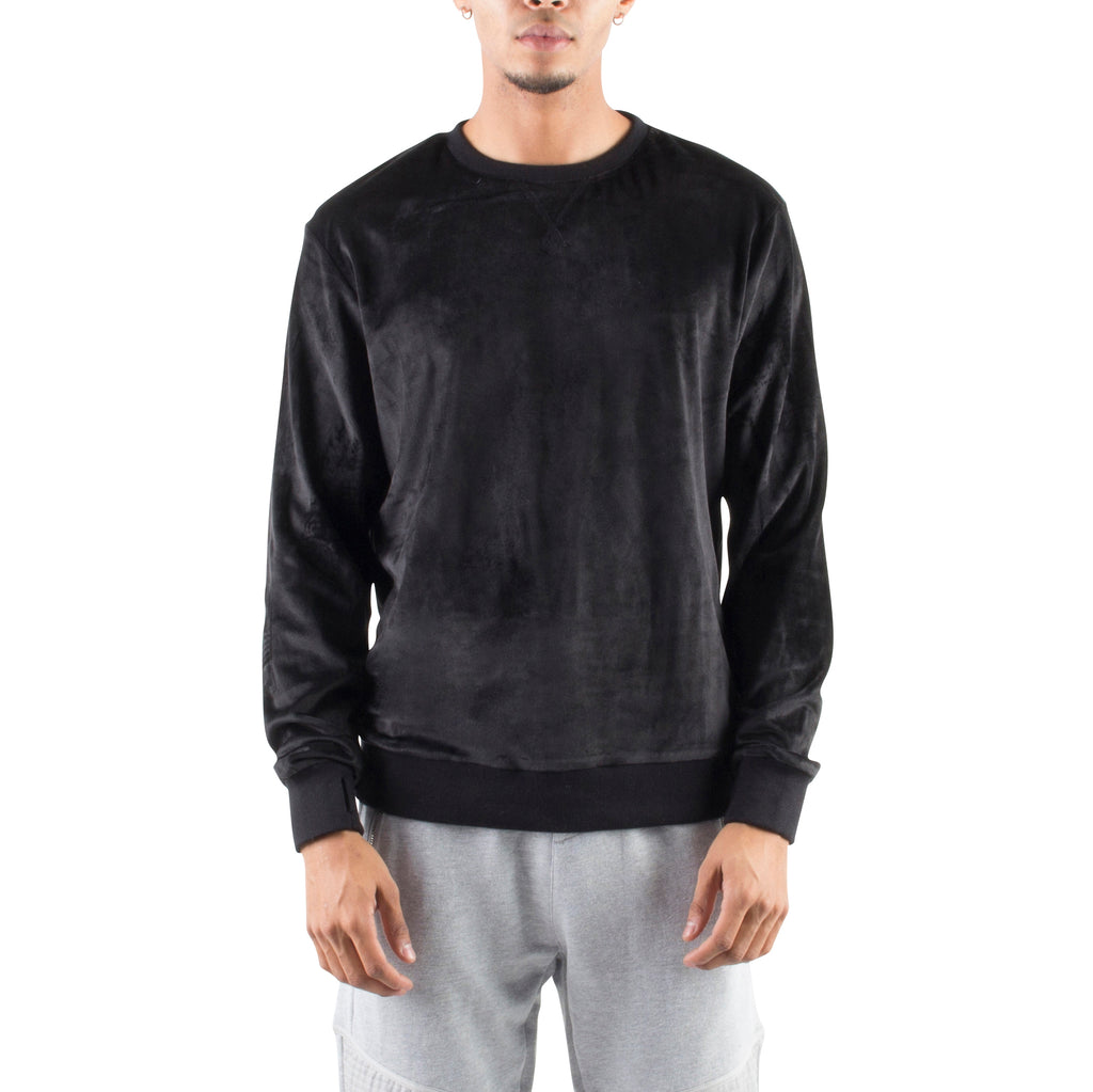 VELOUR SWEATSHIRT - BLACK - Standard Issue NYC