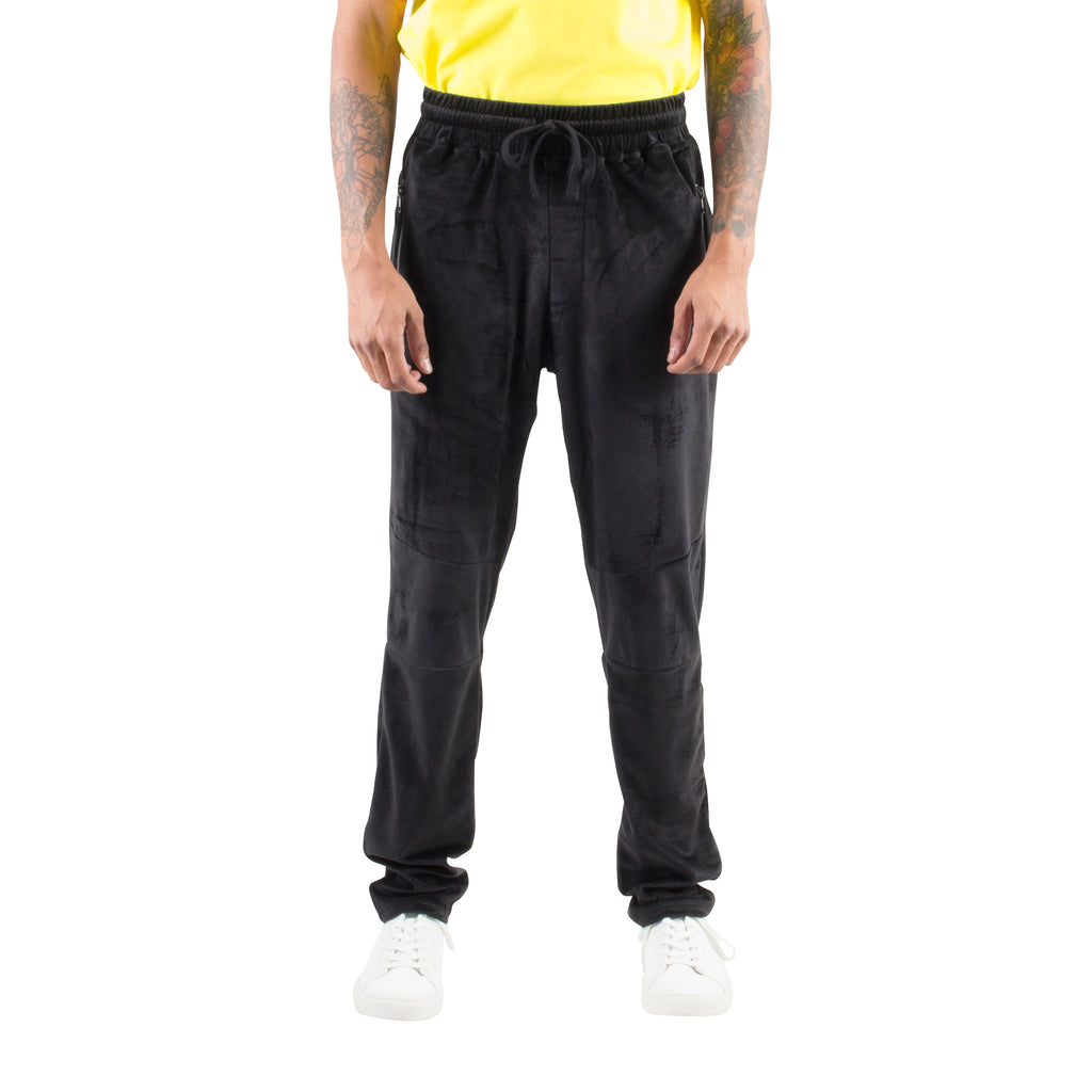 VELOUR BASIC JOGGERS - BLACK - Standard Issue NYC