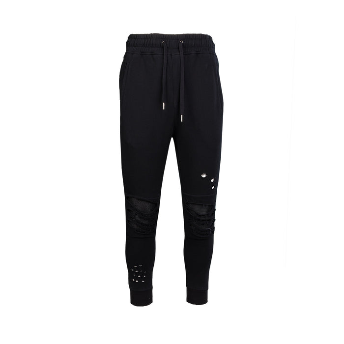 DESTROYED MOTO FRENCH TERRY JOGGER - BLACK - Standard Issue NYC