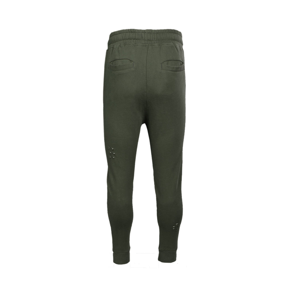 DESTROYED MOTO FRENCH TERRY JOGGER - MILITARY GREEN - Standard Issue NYC