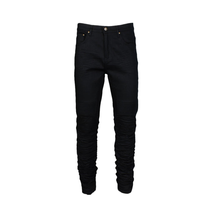 STACKED WRINKLE JEAN - BLACK - Standard Issue NYC