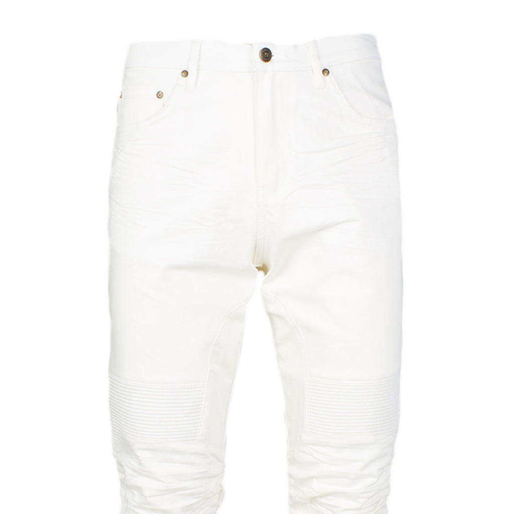 STACKED WRINKLE JEAN - WHITE - Standard Issue NYC