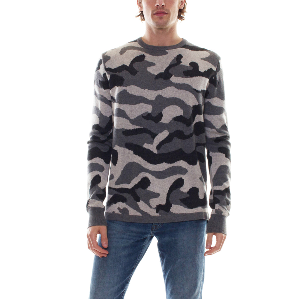 GREY CAMO SWEATER - Standard Issue NYC