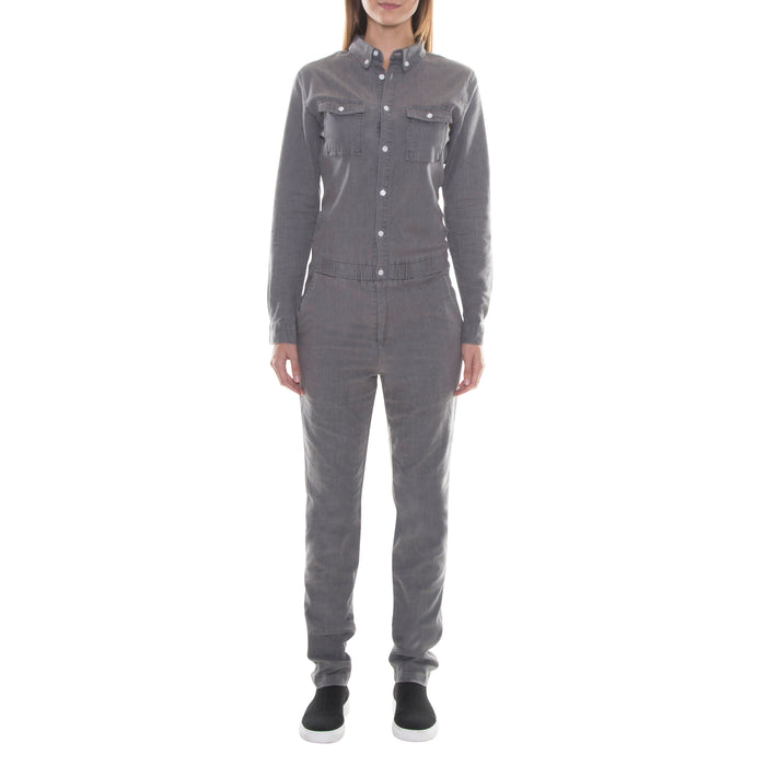 LONG SLEEVE JUMPER DARK GREY CHAMBRAY - Standard Issue NYC