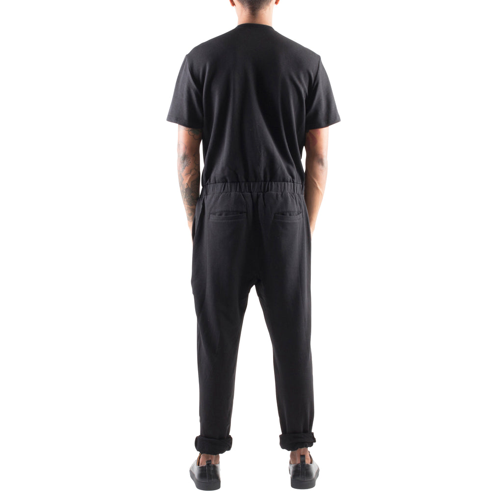 SHORT SLEEVE BLACK TERRY JUMPSUIT - Standard Issue NYC