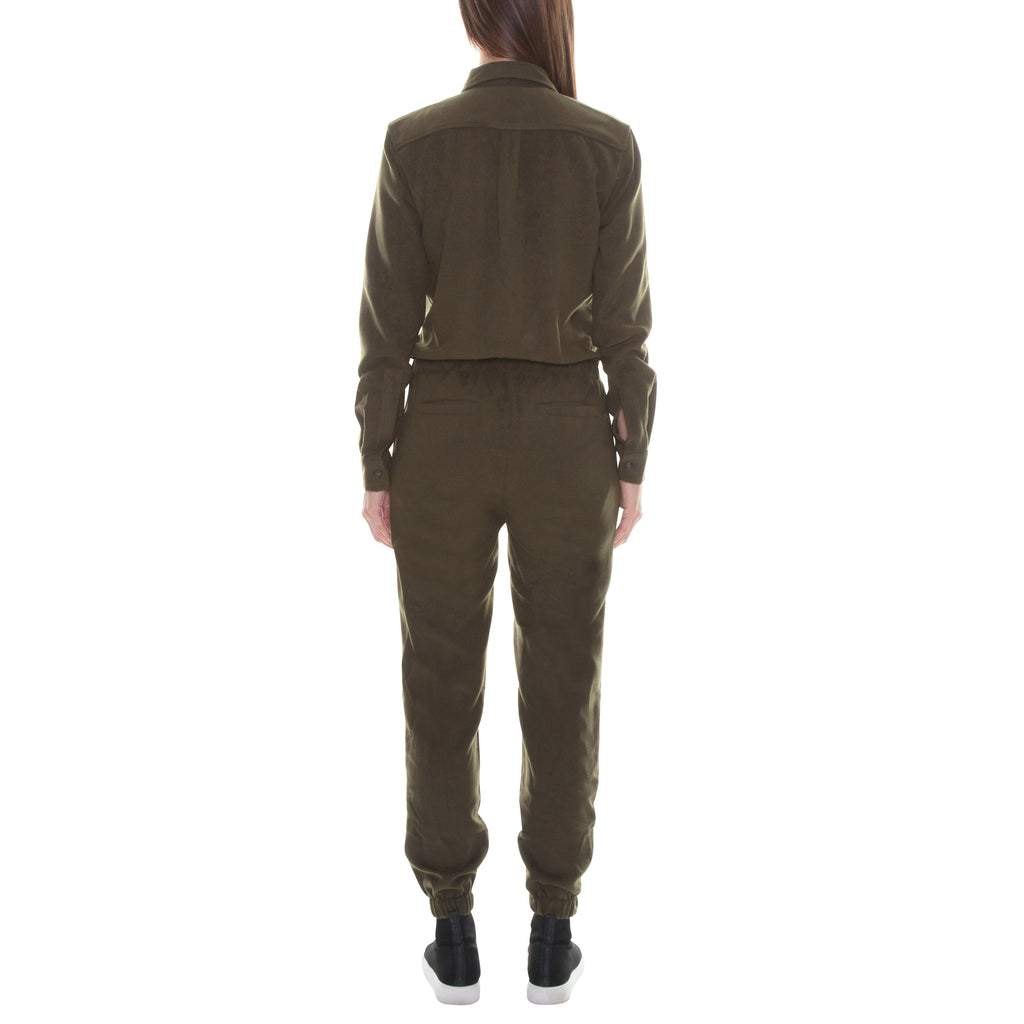 FULL ZIP MILITARY GREEN WOOL JUMPSUIT - Standard Issue NYC