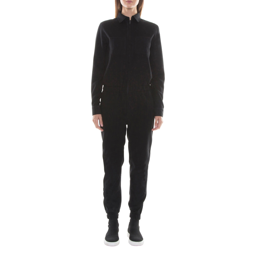FULL ZIP BLACK WOOL JUMPSUIT - Standard Issue NYC