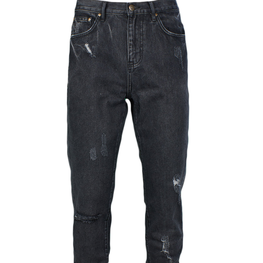 DISTRESSED BLACK JEANS - Standard Issue NYC